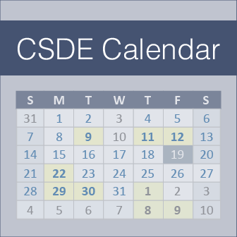 Connecticut State Department of Education Calendar