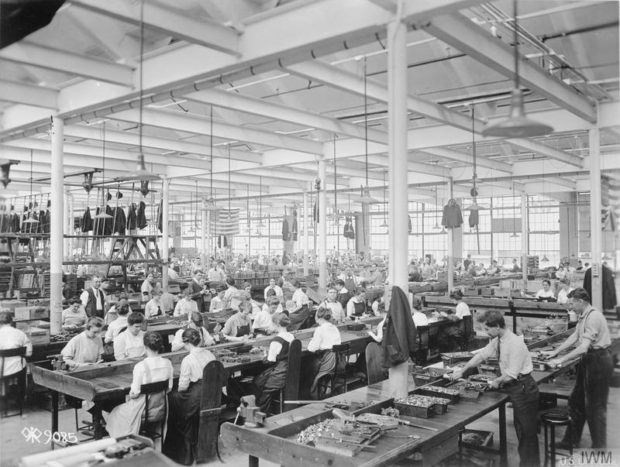 General view of a section of the Colt's automatic firearms plant in Hartford