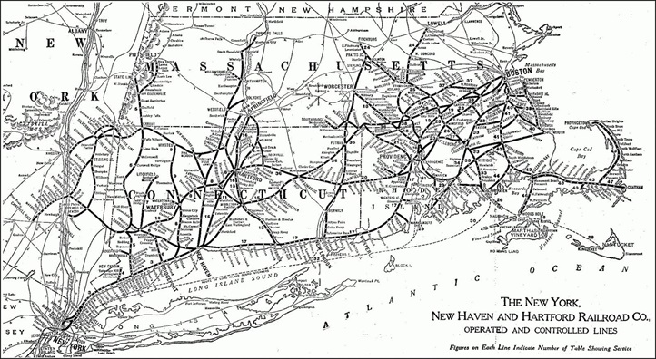 New Haven and Hartford Railroad Map