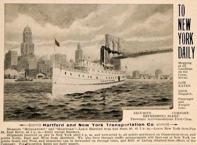 Advertisement for Hartford New York Steamship Line