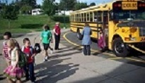 RSCO transportation child getting off bus