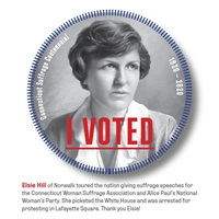 Digital I Voted Sticker with image and text of Elsie Hill