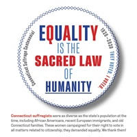 Digital I Voted Sticker with stylized text of Equal Sacred Law of Humanity