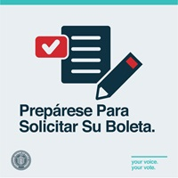 text Preparase para solicitar su boleta with image