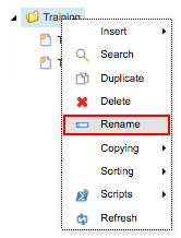 Content Editor - Content Tree Folder Rename