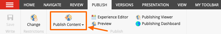 Publish Content icon