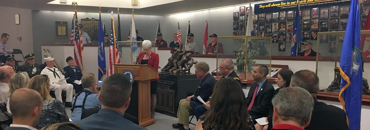 Lt. Gov. Wyman Pays Tribute to Connecticut's Fallen at 11th Annual Wall of Honor Ceremony