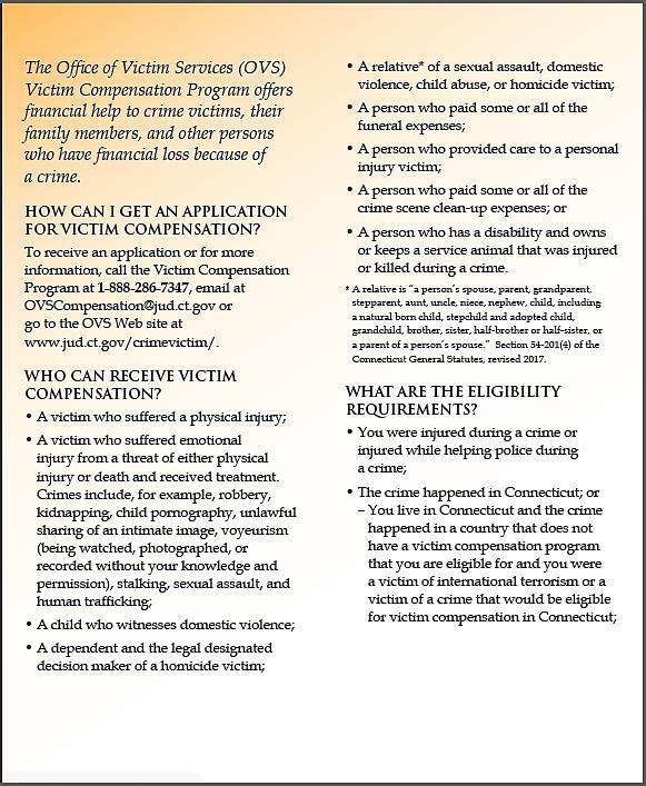 1391c4825a Compensation for Crime Victims Information - Page 1