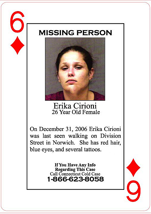 A $50,000 reward is offered for information in the death of Erika Cironi.