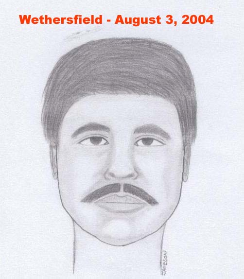 Artist's rendering of individual sought in sexual assaults that occurred in Wethersfield, Connecticut, and Winter Park, Florida