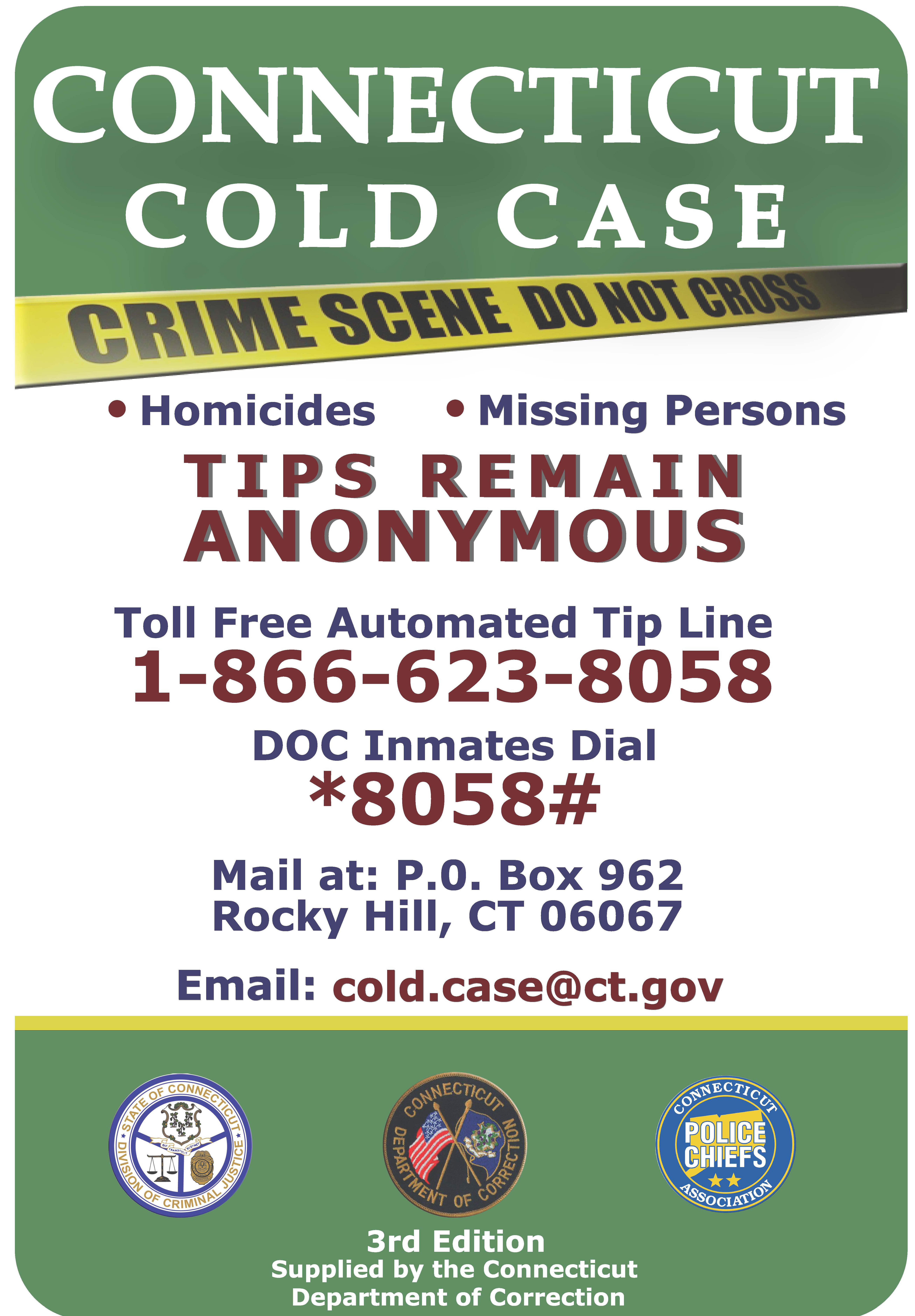 Follow this link to see the third edition of Cold Case Playing Cards.