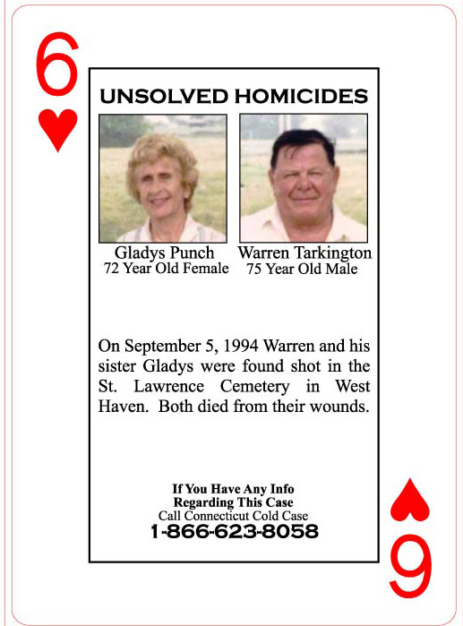 A $20,000 reward is offered in the homicides of Gladys Punch and Warren Tarkington.