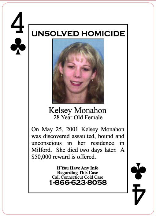 Kelsey Monahon was strangled in May 2001.