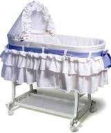 blue gingham bassinet