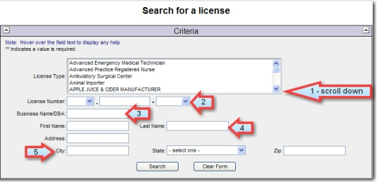 Verify A License Instructions