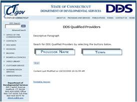 DDS Qualified Providers Page