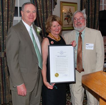Kathy and Jim Heffernan with Commissioner Terrence W. Macy, Ph.D.