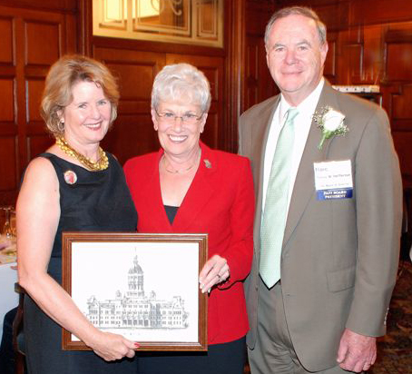 Lt. Governor Nancy Wyman presenting her gift to Kathy and Jim Heffernan