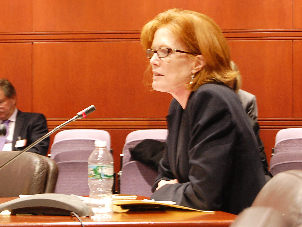 Commissioner Morna A. Murray, J.D. testifying at the Legislative Office Building. (LOB)