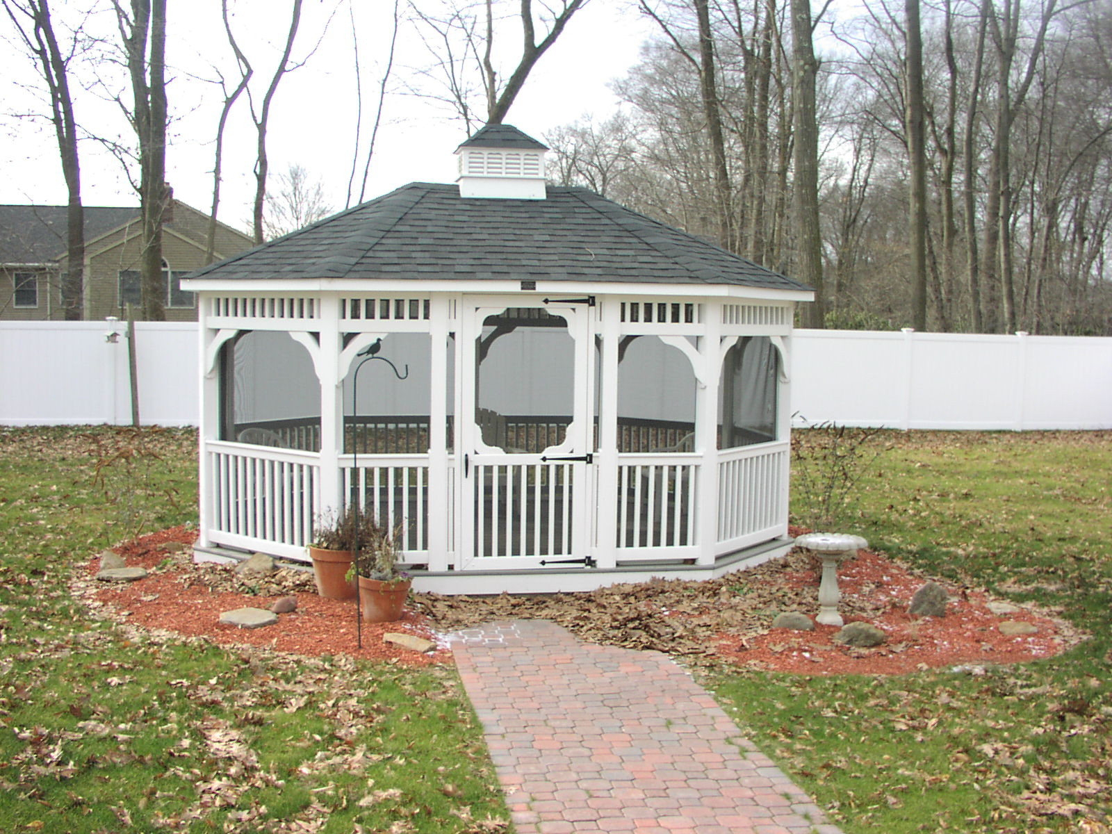 Gazebo in Backyard at the Windsor Respite Center