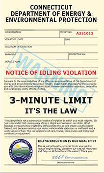 Anti-Idling Ticket