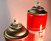 photo of paint spray cans