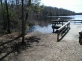 The ramp of the Babcock Pond boat launch.