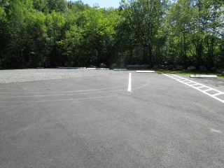The parking area for the Bashan Lake boat launch.