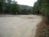 The parking area for the Bigelow Pond boat launch.