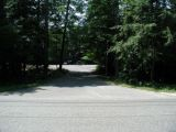 The access road to the Burr Pond boat launch.