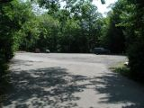 The parking area for the Burr Pond boat launch.