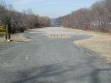 The access road to the Candlewood Lake (Lattins Cove) boat launch.