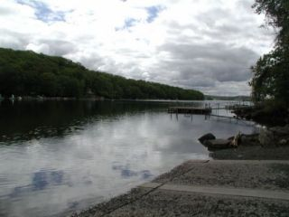 A view from the Candlewood Lake (Squantz Pond) boat launch.