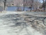 The turning area of the Candlewood Lake (Squantz Pond) boat launch.