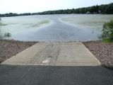The ramp of the Cedar Lake boat launch.