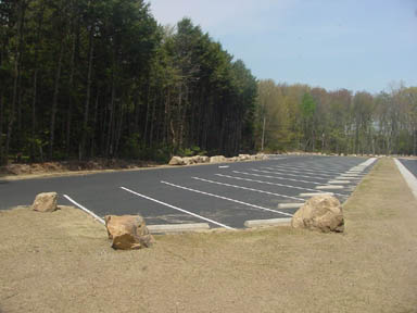 The parking area for the Gardner Lake boat launch.