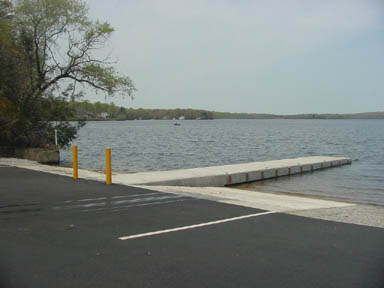 The ramp of the Gardner Lake boat launch.