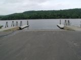 The ramp of the Haddam Meadows boat launch.