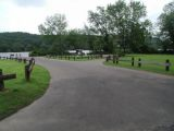 The turning area of the Haddam Meadows boat launch.