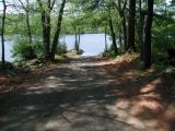 The turning area of the Halls Pond boat launch.