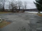 The turning area of the Highland Lake boat launch.