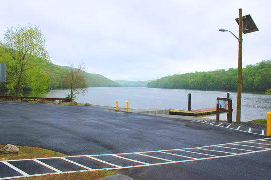 A view from the Lake Lillinonah boat launch.