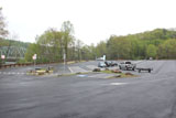 The parking area for the Lake Lillinonah boat launch.