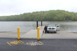 The ramp of the Lake Lillinonah boat launch.
