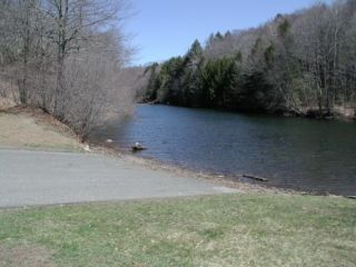 A view from the Lake Lillinonah (Pond Brook) boat launch.