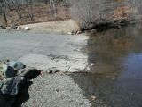 The ramp of the Lake Lillinonah (Pond Brook) boat launch.