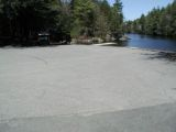 The turning area of the Mashapaug Lake boat launch.