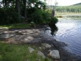 The ramp of the Mohawk Pond boat launch.