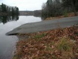 The ramp of the Morey Pond boat launch.