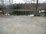 The turning area of the Morey Pond boat launch.